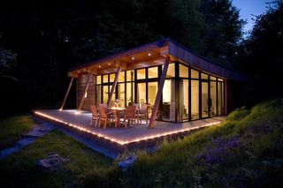 Lodge at night_credit Natural Retreats